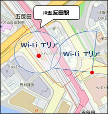 The Gotanda Station west exit, east exit use possibility area