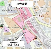 Around Osaki  station square new west exit use possibility area (5)